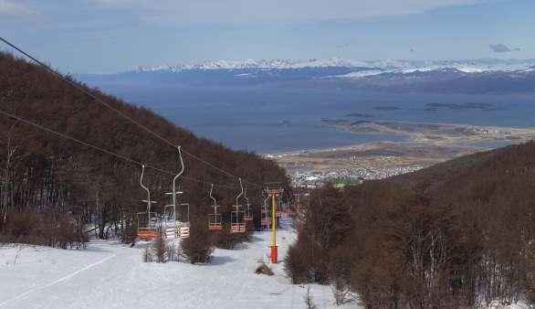 Skifahren in Feuerland